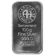 260099cd0 Výkup investičného striebra - 100g Ag tehlicka Argor Heraeus   Výkup ...