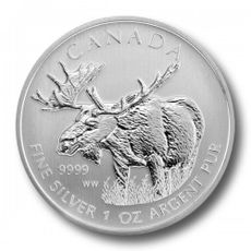 1 oz Ag Maple Leaf - Moose 2012 5 CAD