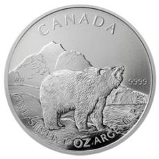 1 oz Ag Maple Leaf - Grizzly 2011 5 CAD